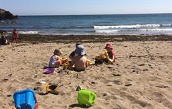 Safe sandy beach - 10 minute drive