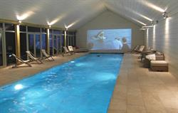 Watch a movie while swimming