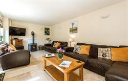 Living room at Lavender Barn