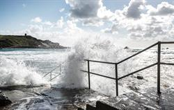 Waves over Bude Sea Pool