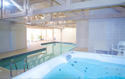 Indoor pool and Jacuzzi