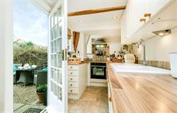 Kitchen and courtyard garden