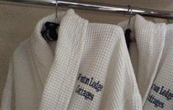 Bath robes and slippers provided