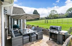 Garden patio and barbecue