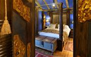Coach House blue bedroom
