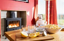 Log fire for cosy evenings