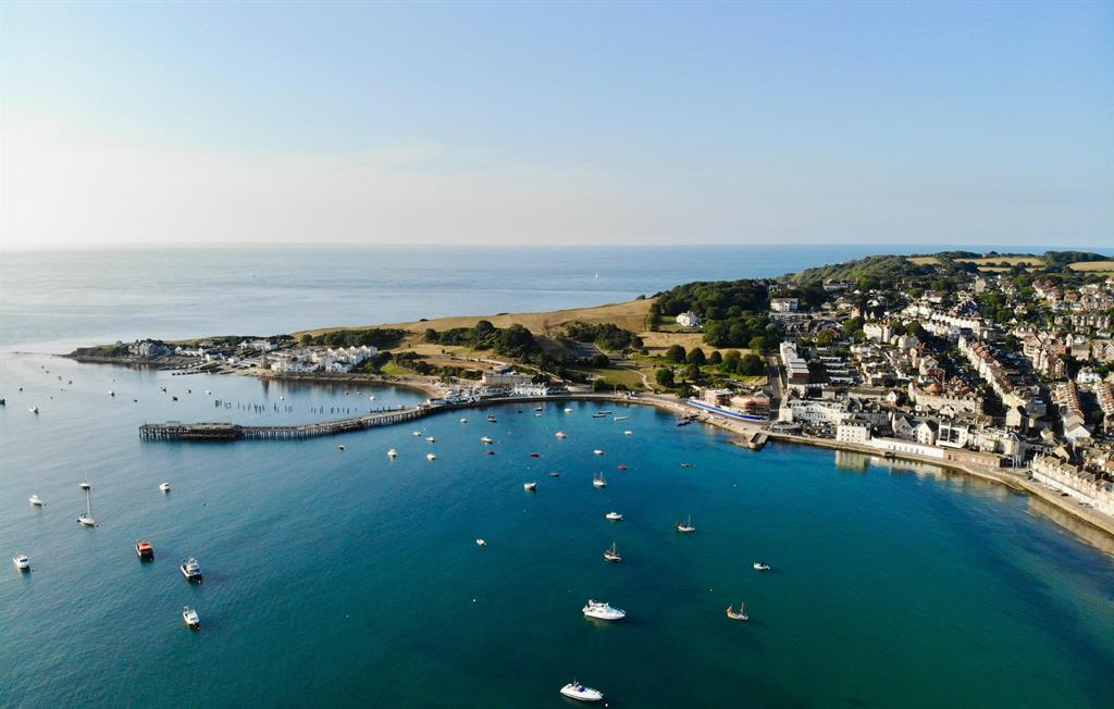 Swanage bay from above