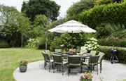 Large  sunny garden for socialising and relaxing.
