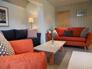 Spacious lounge at Hafod