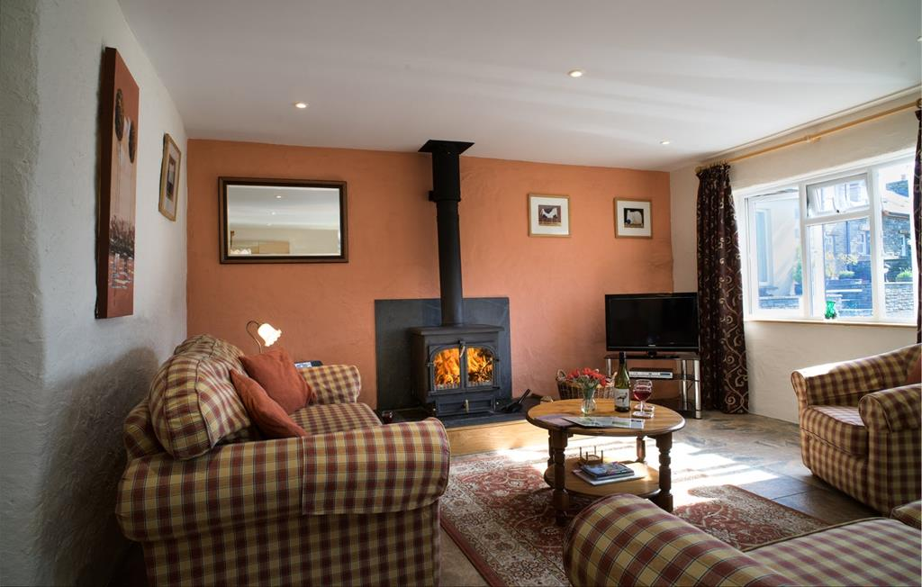 Hunker down in the cosy living area