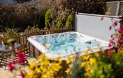 Croft House garden hot tub