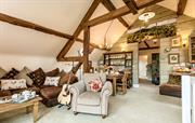 Barn internal lounge area