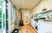 Kitchen and woodburner