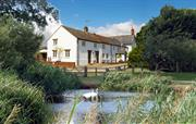 Tincleton Lodge & Rose Cottage from Home Pond