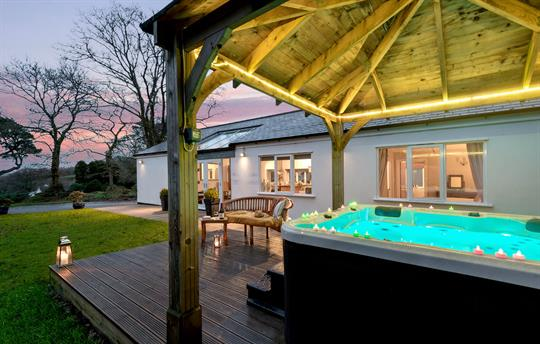 Relax in your private hot tub