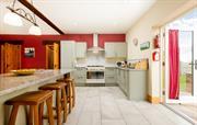 Kitchen with range oven