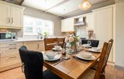 Cowslip Cottage kitchen and dining area