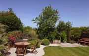 Courtyard garden at Lambriggan Court
