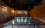Rustic table tennis room