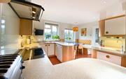 Large designer kitchen.
