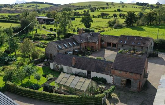 Aerial view of Middle Farm