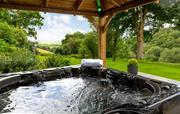 Five seater hot tub with sound system