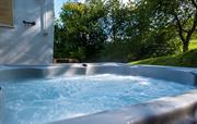Stargazing hot tub