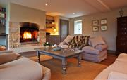 Sitting room with real fire