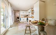 Light kitchen with breakfast table