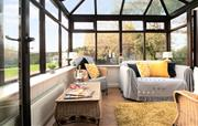 A lovely sunny space overlooking the courtyard