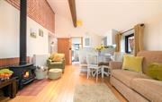 Bright & airy living space all on one level
