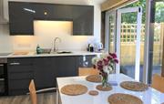 Bright and airy kitchen opening out to the garden
