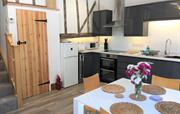 Modern kitchen & dining area for entertaining