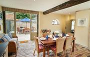 The large kitchen gives direct access to terrace