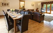 Large, spacious dining and sitting room