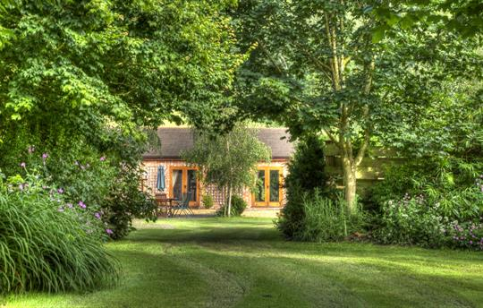 Curlew Cottage with a large enclosed garden