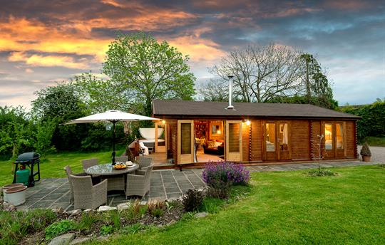 Cabin external dusk