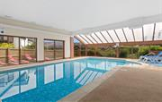 The indoor heated swimming pool