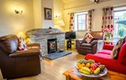 The Dairy lounge with log burner