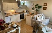 Open plan kitchen, dining and sitting room