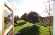 Looking out on the walled kitchen garden