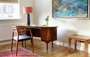 Hansen desk and Moller chair in living room