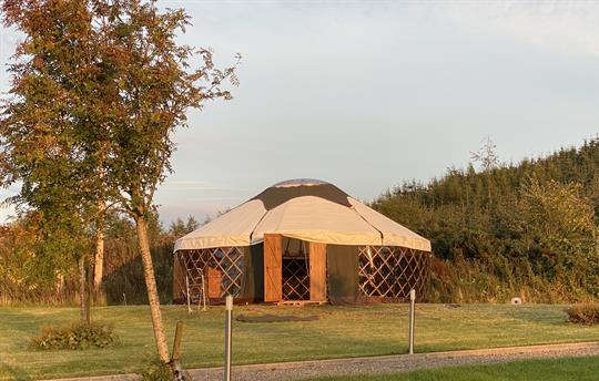 Rowan Yurt at Sunset