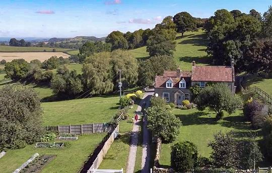 Farmhouse and cottages view