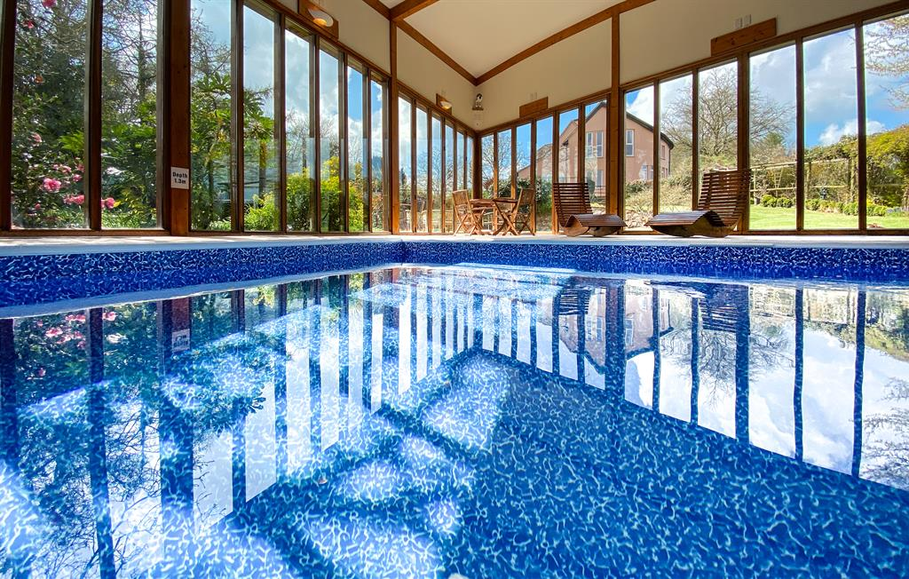 Fabulous private indoor pool in the Spa Hall