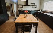 The stylish kitchen space