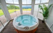 Enjoy spectacular views from the hot tub