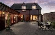 Private, secluded paved courtyard & front entrance