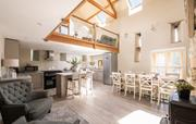 Spacious kitchen and dining