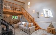 The Byre living room with Log burner